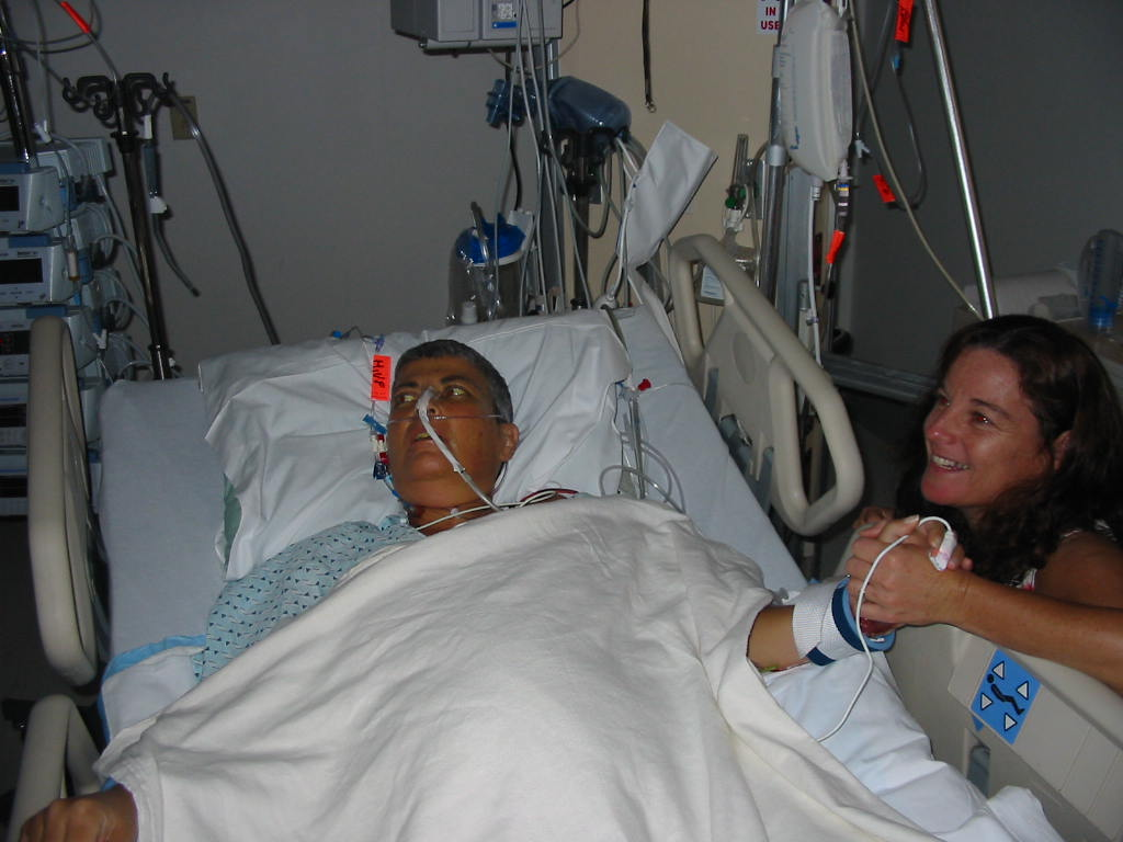 Patricia in the hospital with worse medical condition