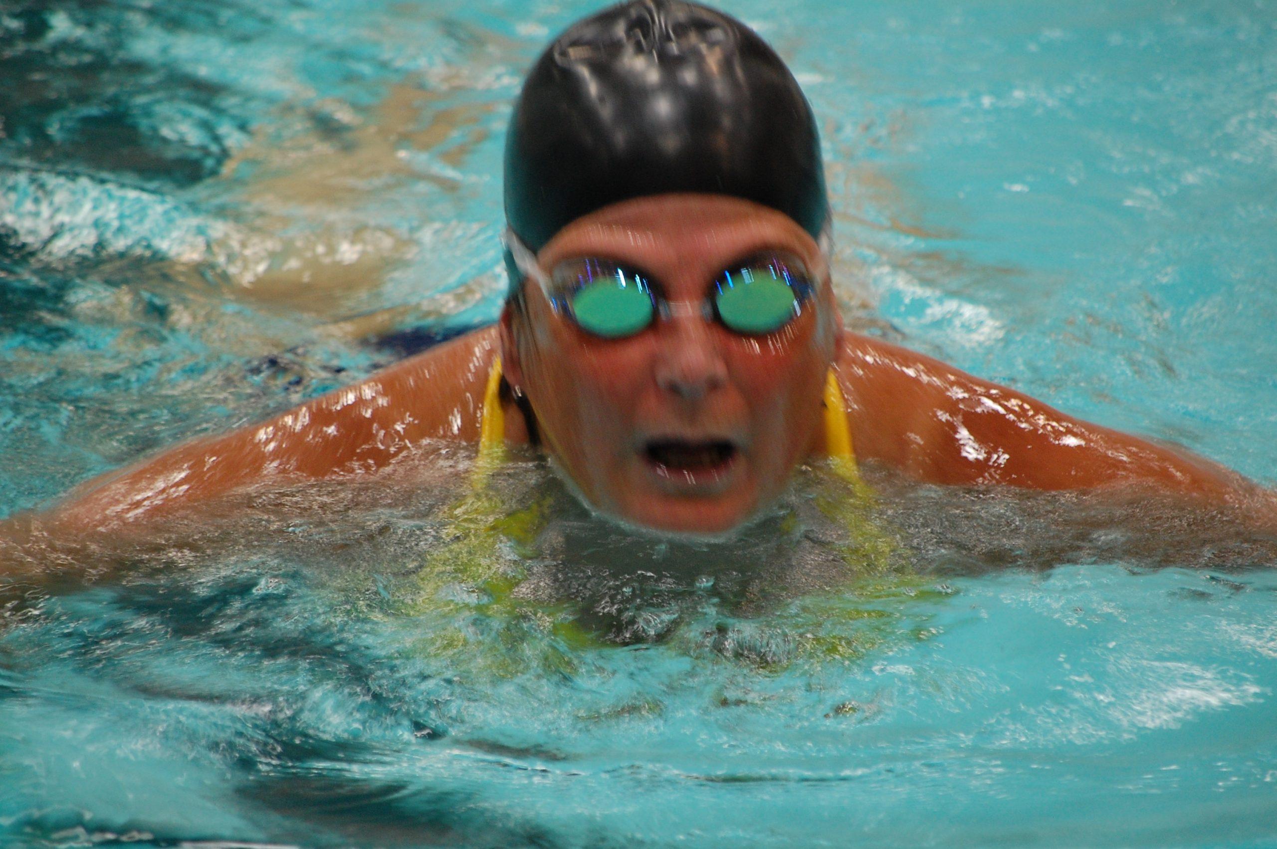 Patricia j scot is swimming